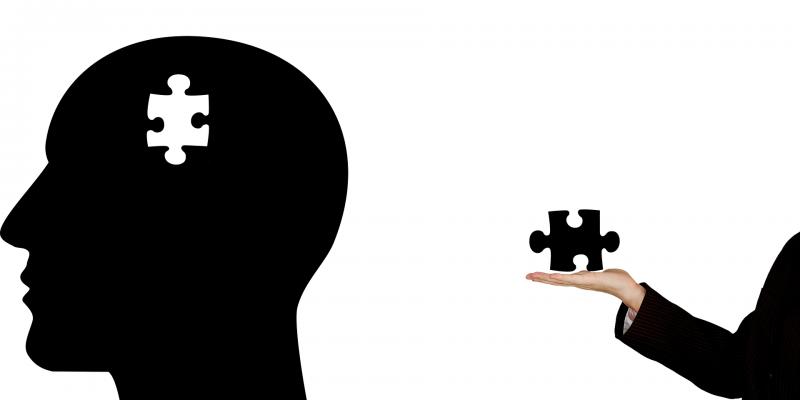 Salud mental. Cabeza a la que le falta una pieza